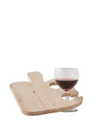 Tagliere per aperitivo in legno con spazio bicchiere